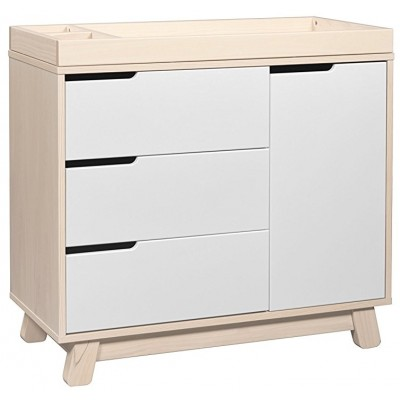 Babyletto Hudson 3-Drawer Changer Dresser - Washed Natural/White