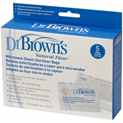 Dr Brown's Microwave Steam Sterilizer Bags 5s