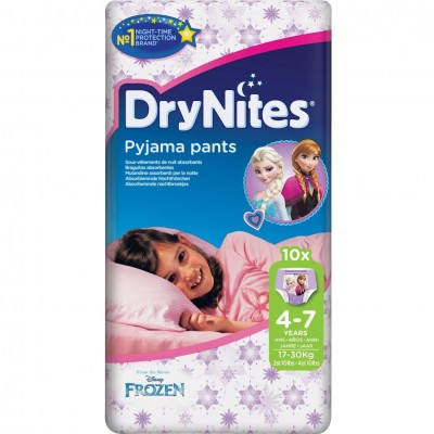 Huggies Drynites Pyjama Pants for Girls 4-7 (10pk)